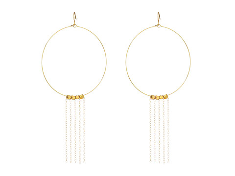 Vanessa Mooney The Beat Generation Fringe Hoops Earrings - Gold