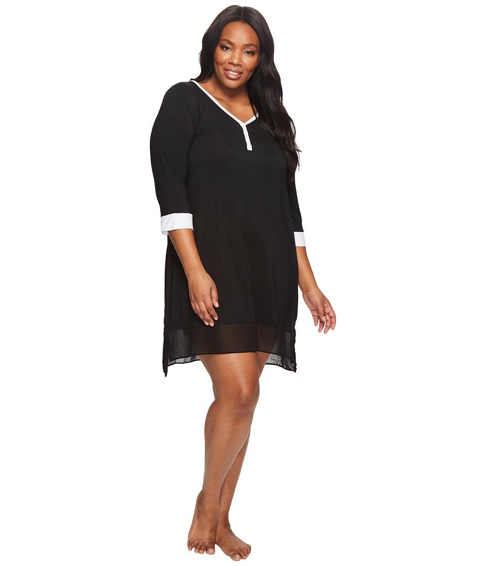 DKNY - Plus Size 3/4 Sleeve Sleepshirt
