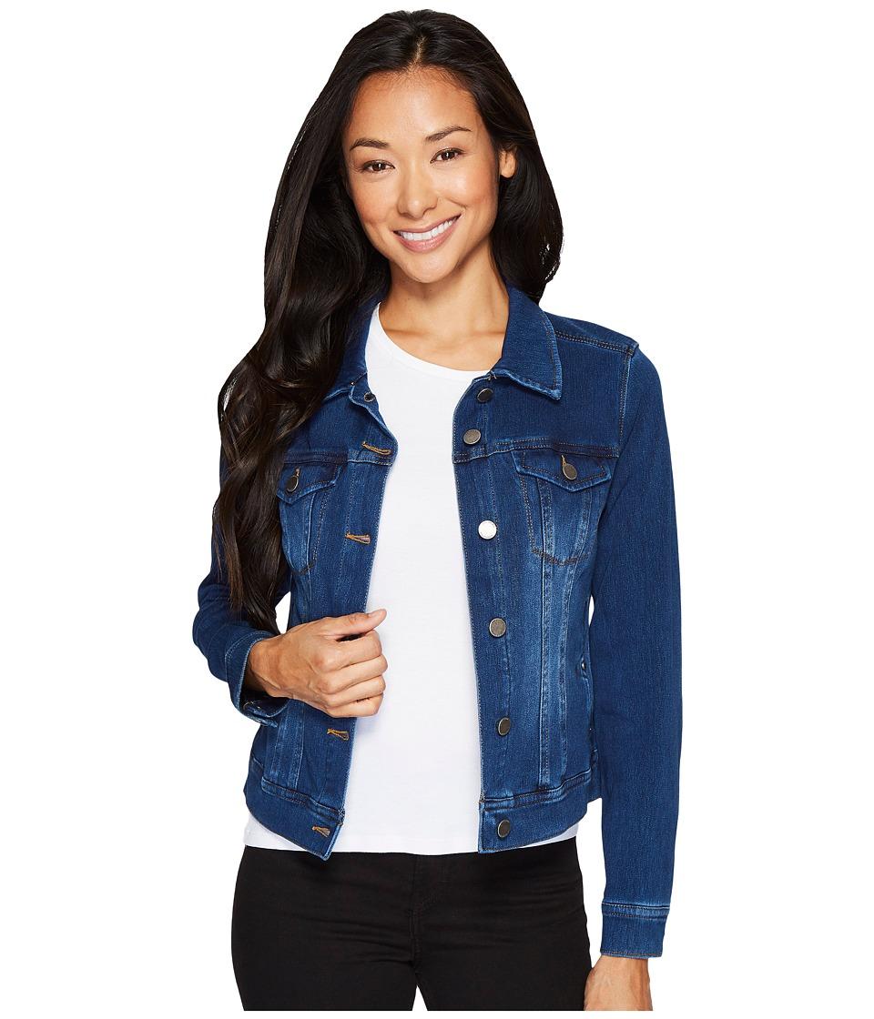Liverpool - Petite Classic Denim Jacket in Powerflex Knit Denim (Admiral Blue) Womens Coat