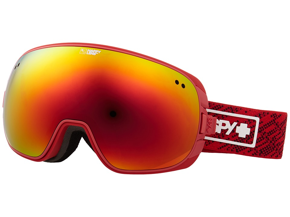 Spy Optic Doom (Spy Knit Red/Happy Gray Green/Red Spectra/Happy Yellow/Lucid Gre) Snow Goggles