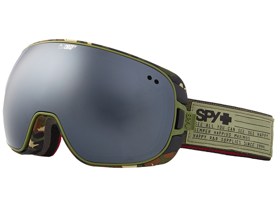Spy Optic Doom (Fatigue/Happy Gray Green/Silver Spectra/Happy Yellow/Lucid Green) Snow Goggles