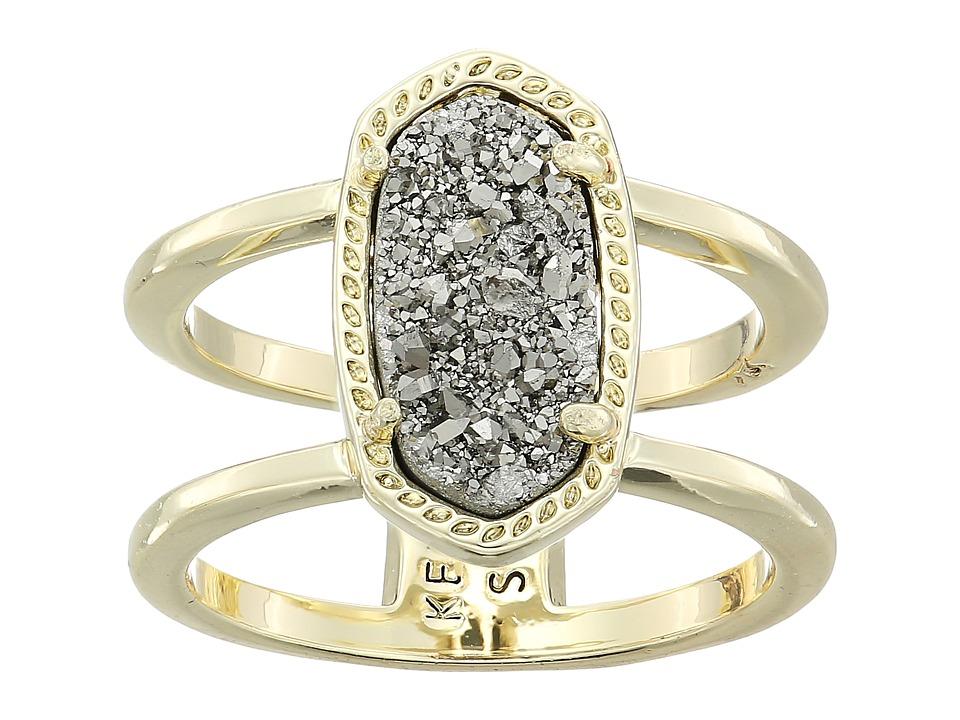 Kendra Scott Elyse Ring (Gold/Platinum Drusy) Ring