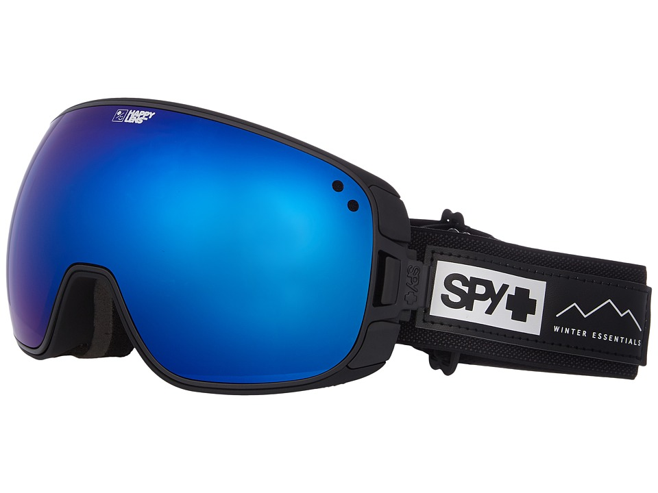 Spy Optic Bravo (Essential Black/Happy Rose/Dark Blue Sepctra/Happy Light Gray Gr) Snow Goggles