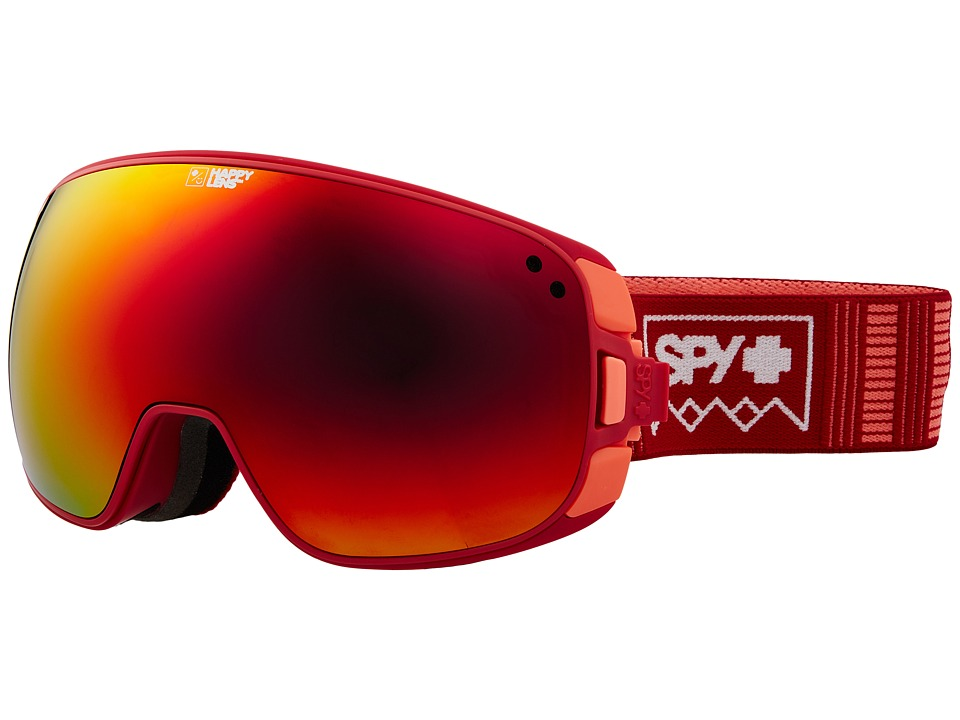 Spy Optic Bravo (Deep Winter Blush/Happy Gray Green/Red Sepctra/Happy Yellow/Luci) Snow Goggles