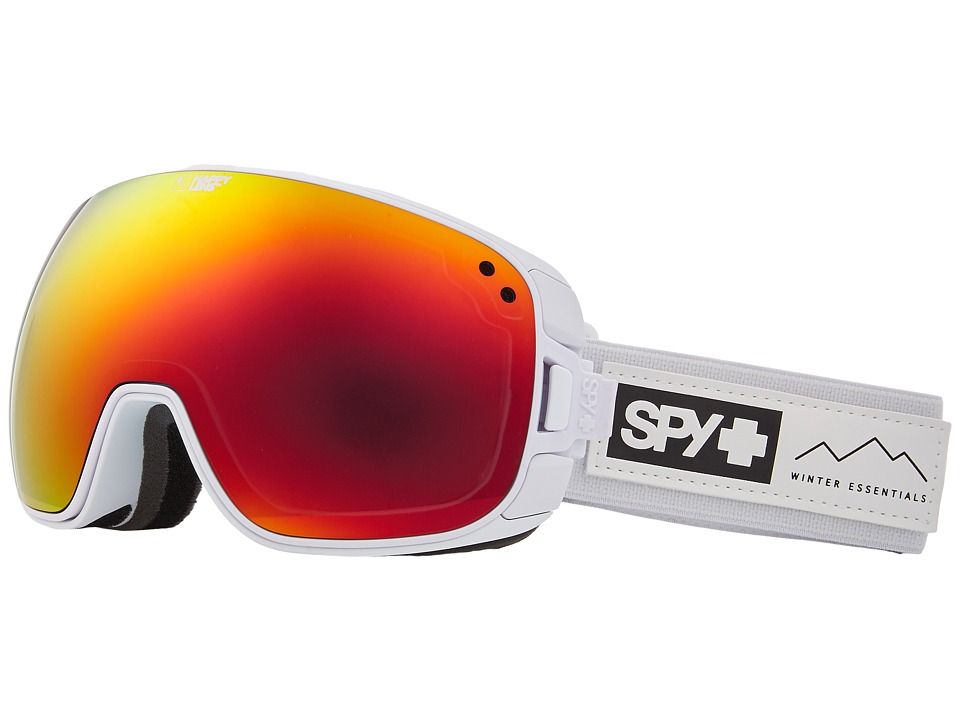 Spy Optic Bravo (Essential White/Happy Gray Green/Red Sepctra/Happy Yellow/Lucid) Snow Goggles