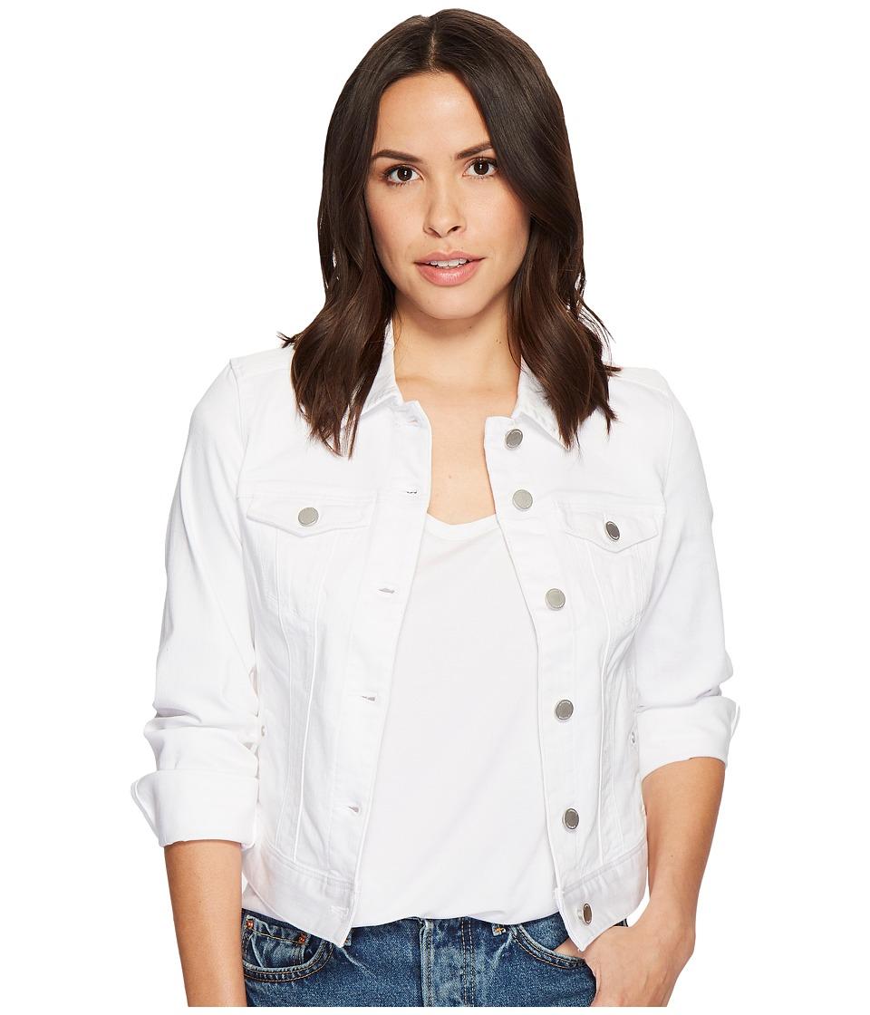 Liverpool - Petite Classic Denim Jacket in Stretch Slub Twill (Bright White) Womens Coat
