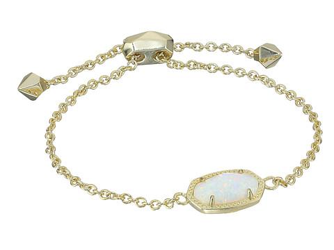 Kendra Scott Elaina Bracelet - Gold/White Kyocera Opal