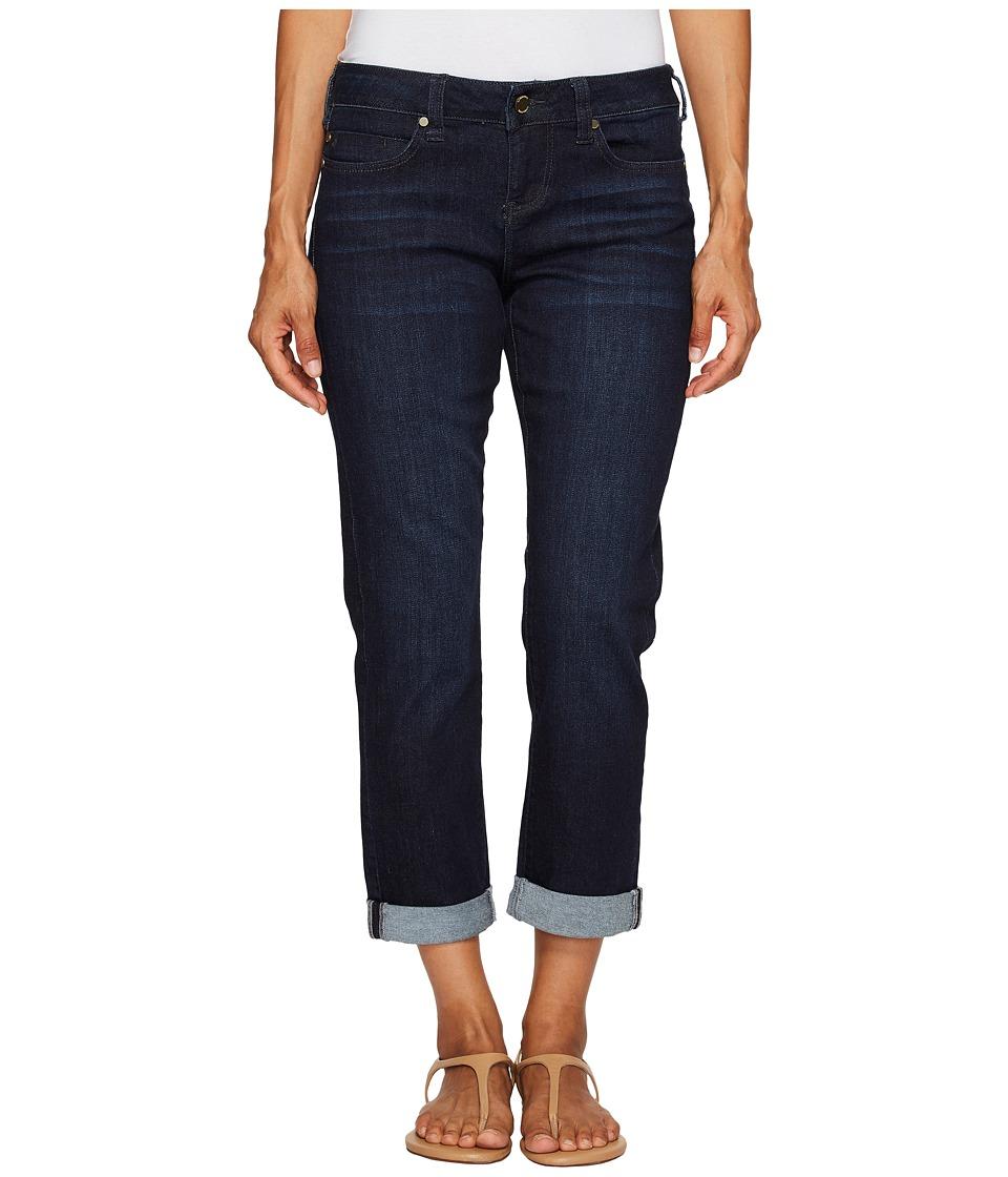 Liverpool - Petite Peyton Slim Boyfriend in Vintage Super Dark Comfort Stretch Denim (Vintage Super Dark) Womens Jeans