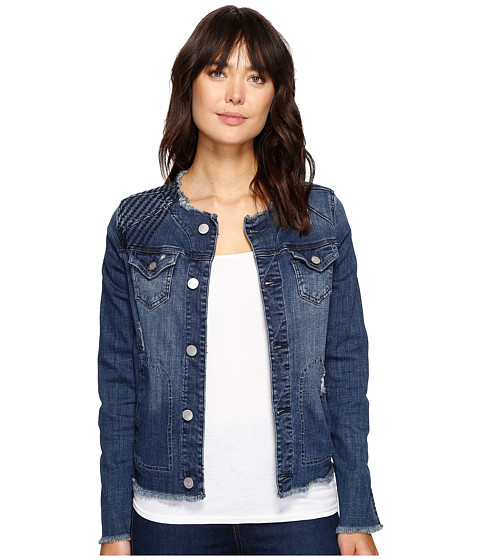 Jag Jeans Lori Jacket in Thorne Blue Crosshatch Denim at 6pm.com