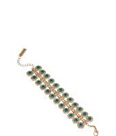 Steve Madden - Disc Floral Accent Casted Stone Bracelet