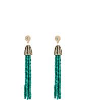 Steve Madden - Tribal Textured Green Beaded Tassel Earrings
