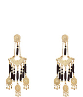 Steve Madden - Brown Dangling Beaded Chandelier Post Earrings
