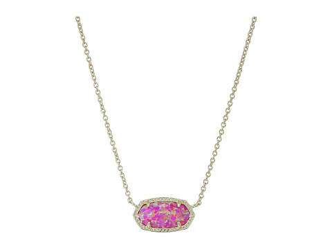 Kendra Scott Elisa Necklace - Gold/Fuchsia Kyocera Opal