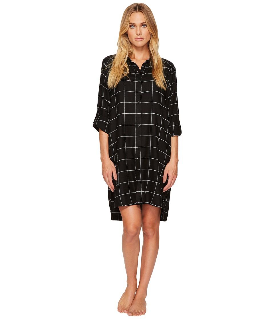 DKNY - Flannel Long Sleeve Sleepshirt