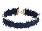Steve Madden - Dark Blue Denim Frayed Choker Necklace