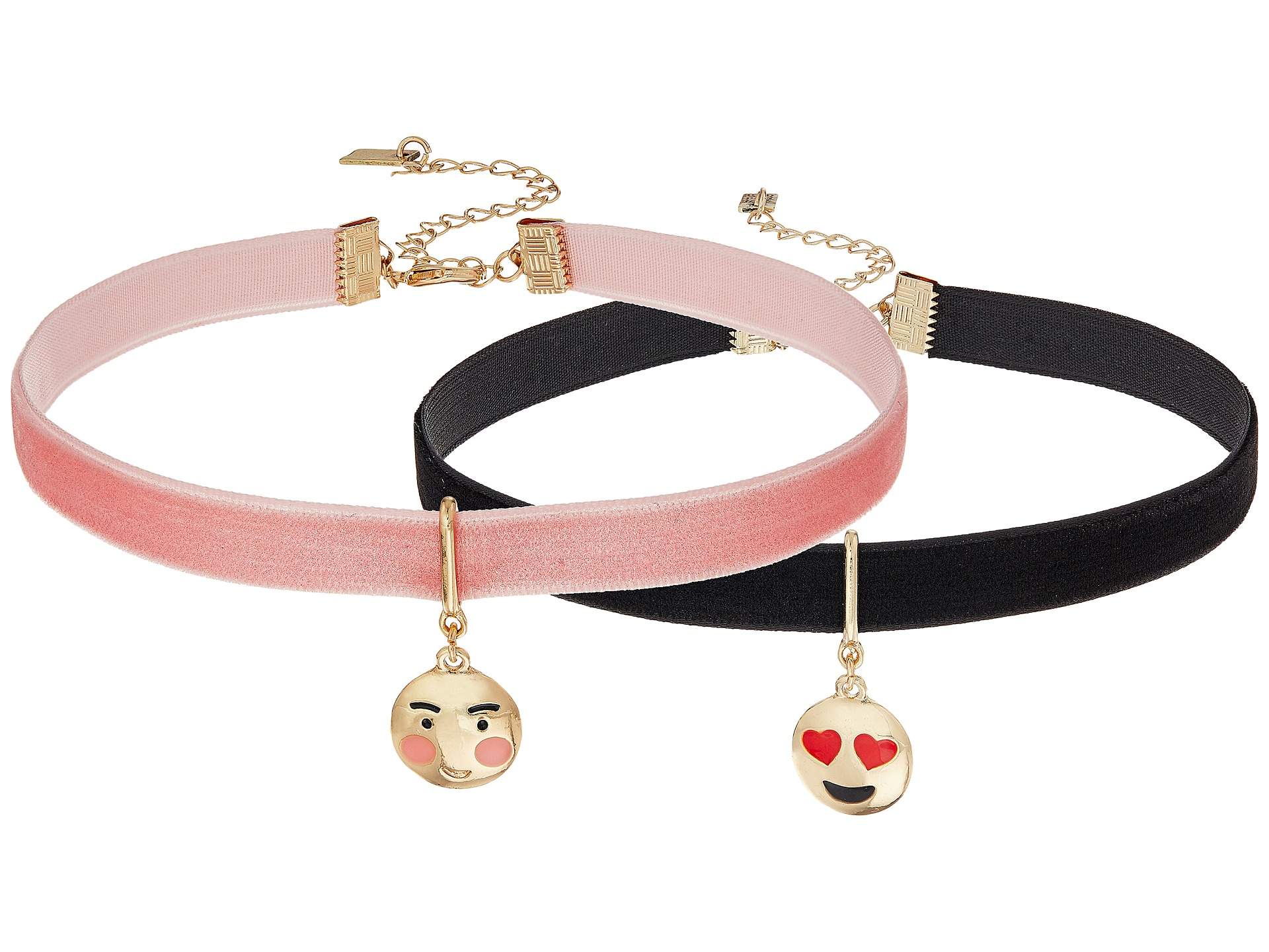 Steve Madden 2 Piece Emoji Choker Necklace Set Heart/Blushing Face - Zappos.com Free Shipping ...
