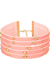 Steve Madden - 5 Row Velvet with Star Charms Choker Necklace