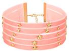 Steve Madden - 5 Row Velvet with Star Charms Choker Necklace