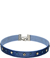 Steve Madden - Velvet with Stars Choker Necklace