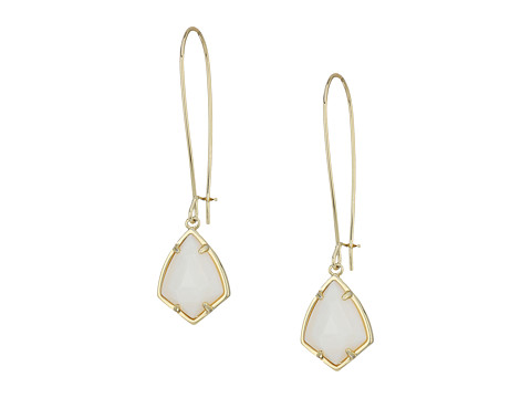 Kendra Scott Carinne Earrings - Gold/White Mother-of-Pearl