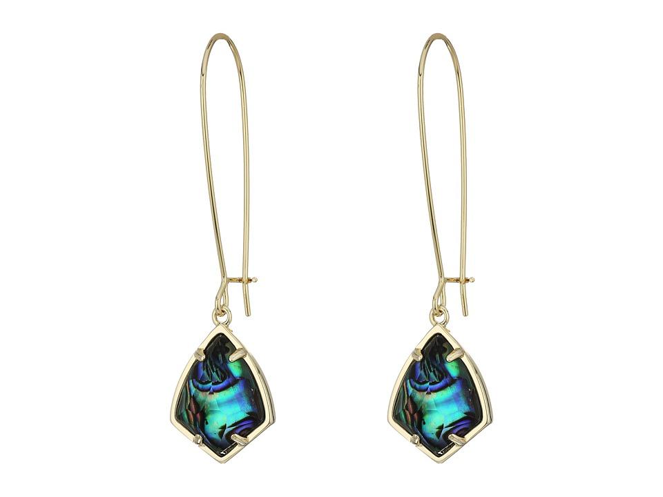 Kendra Scott Carinne Earrings (Gold/Abalone Shell) Earring