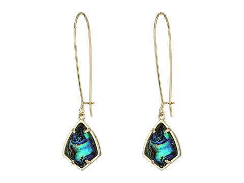 Kendra Scott Carinne Earrings - Gold/Abalone Shell