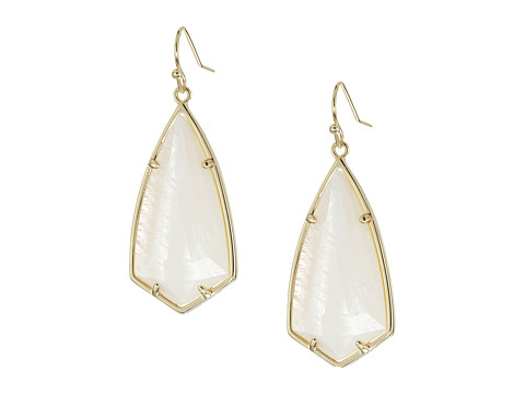 Kendra Scott Carla Earrings - Gold/White Mother-of-Pearl