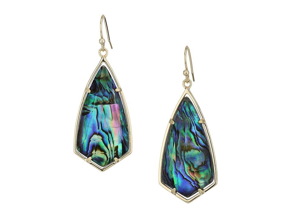 Kendra Scott Carla Earrings (Gold/Abalone Shell) Earring