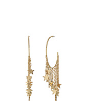 Steve Madden - Dangling Star Charm Hoop Earrings