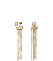 Steve Madden - Pearl Tassel Front to Back Earrings