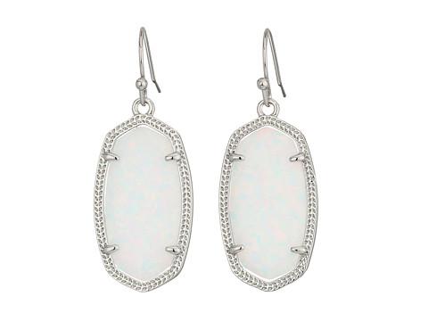Kendra Scott Dani Earrings - Rhodium/White Kyocera Opal