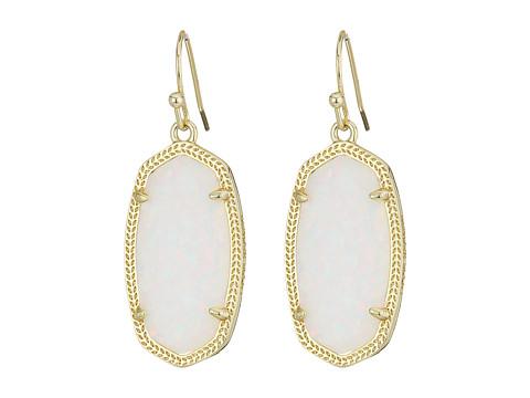 Kendra Scott Dani Earrings - Gold/White Kyocera Opal