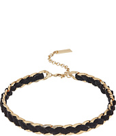 Steve Madden - Velvet Laced Curb Choker Necklace