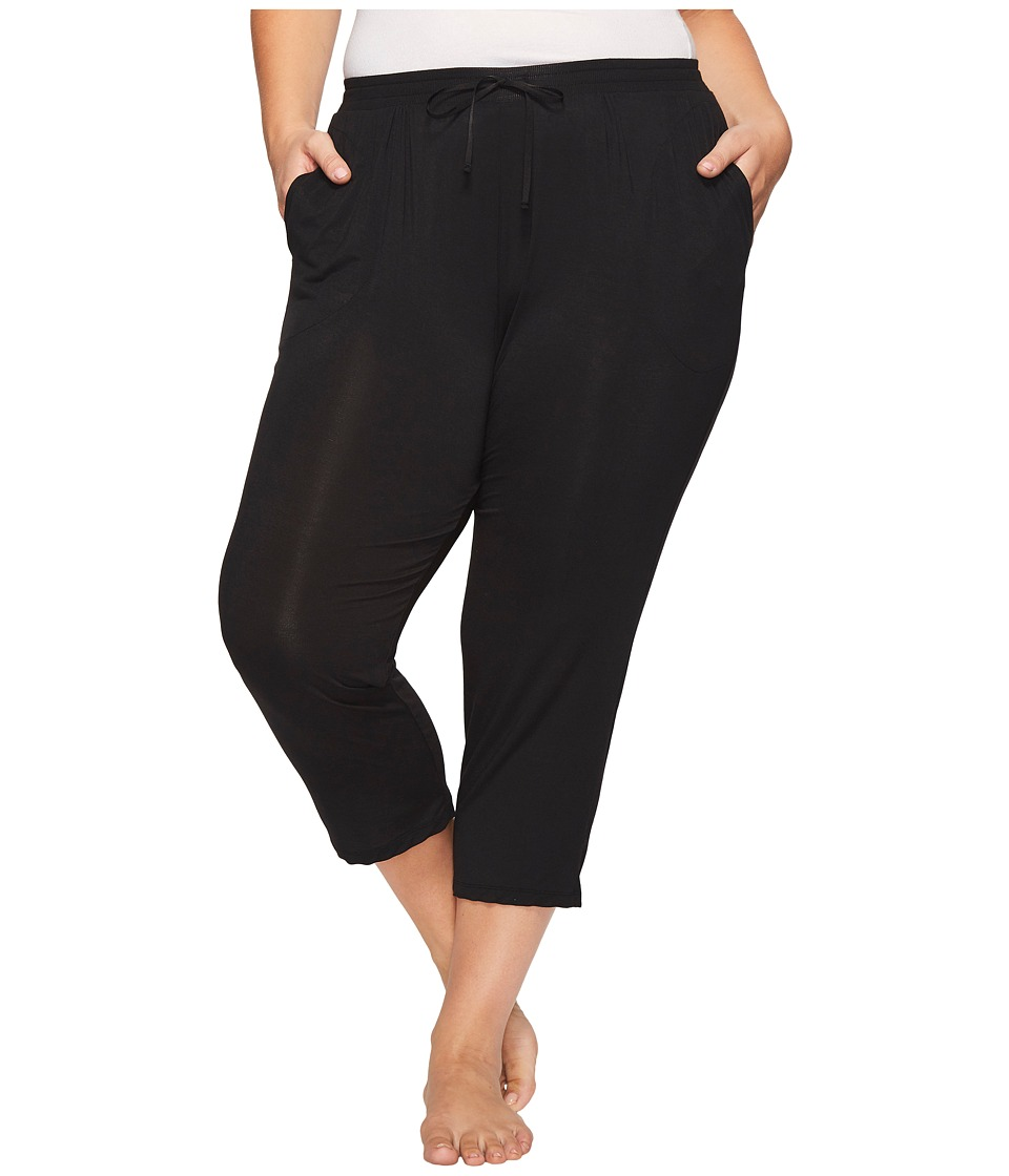 DKNY Plus Size Capri Pants (Black) Women