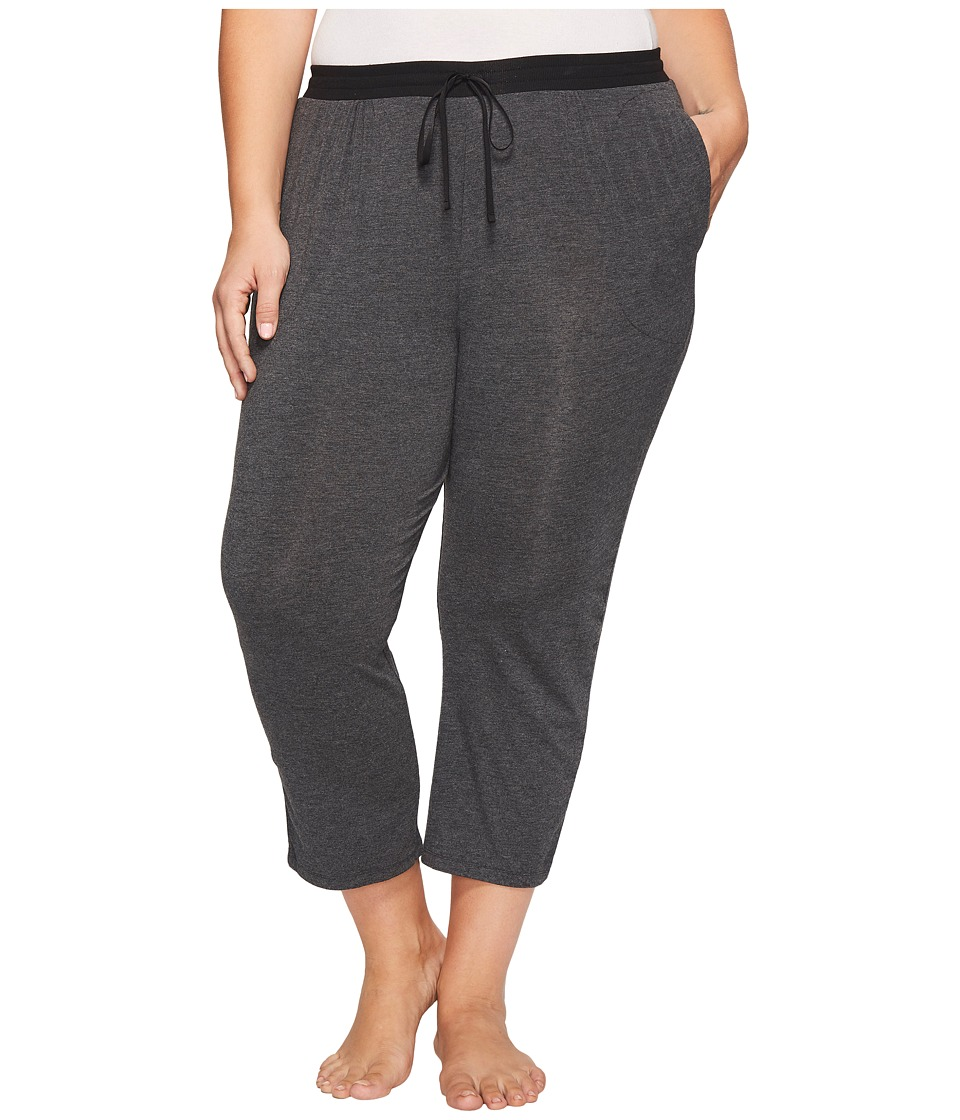 DKNY Plus Size Capri Pants (Charcoal Heather) Women