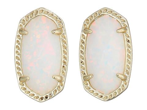 Kendra Scott Ellie Earring - Gold/White Kyocera Opal