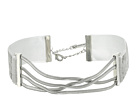 Straps Crisscross Snake Chain Choker Necklace