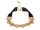 Velvet Straps Rolo Chain Choker Necklace