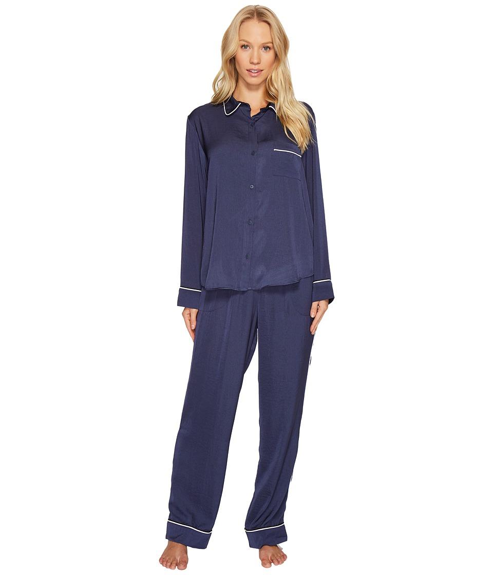 DKNY - Washed Satin Notch Collar PJ Set
