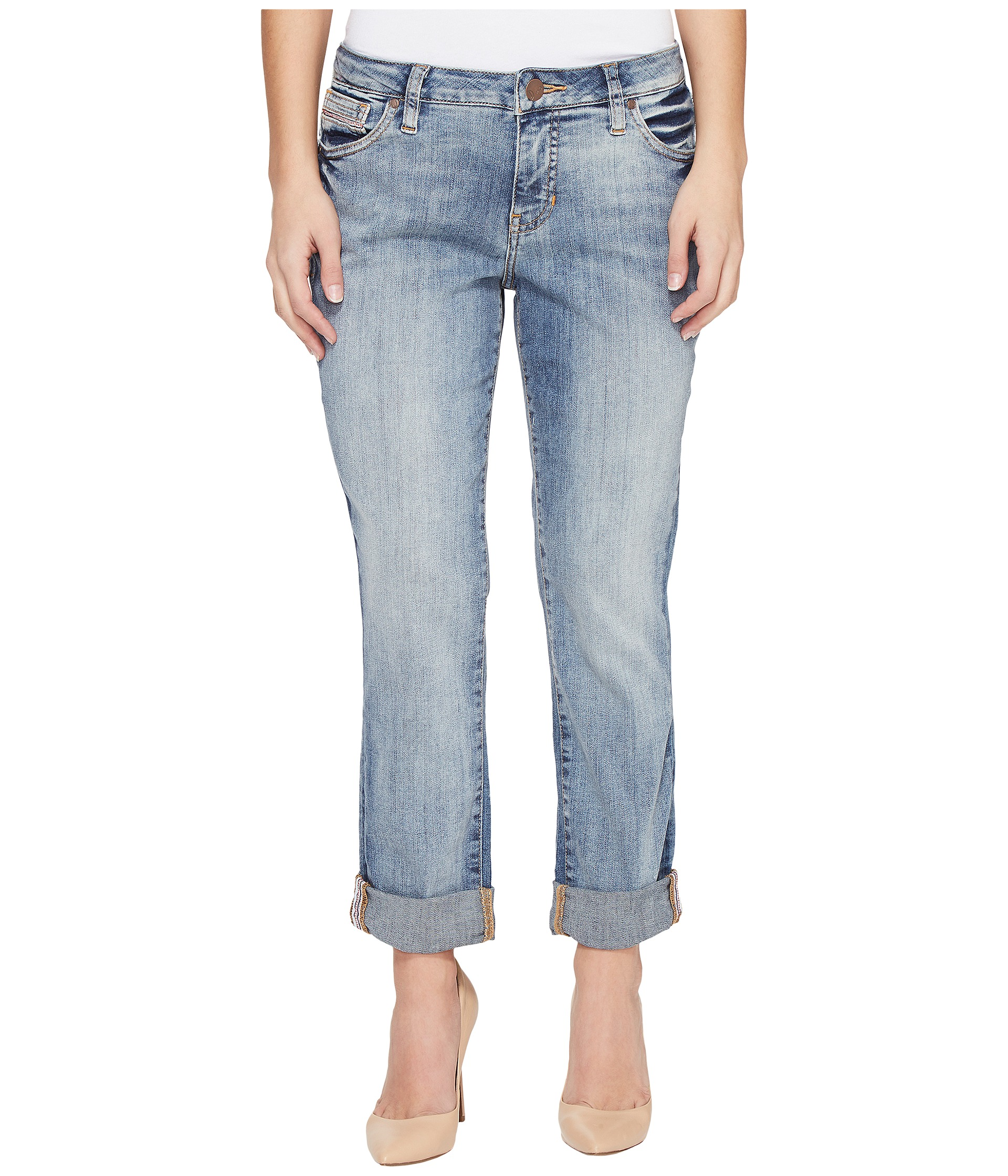 Jag Jeans Petite Petite Alex Boyfriend Platinum Denim in Saginaw Blue at Zappos.com