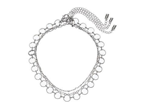 Steve Madden 3 Piece Chain Choker Necklace Set - Silver
