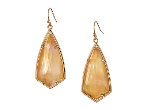 Kendra Scott Carla Earrings - Rose Gold/Brown Mother-of-Pearl 1