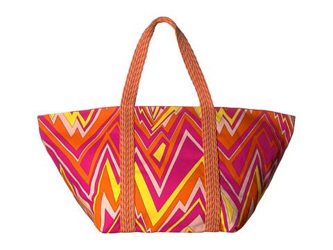 M Missoni Zigzag Canvas Beach Bag