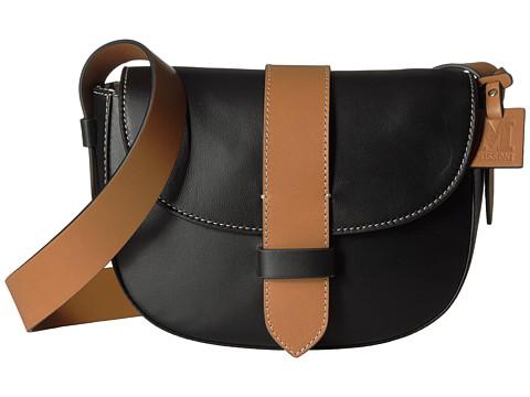 M Missoni Leather Crossbody Bag - Black