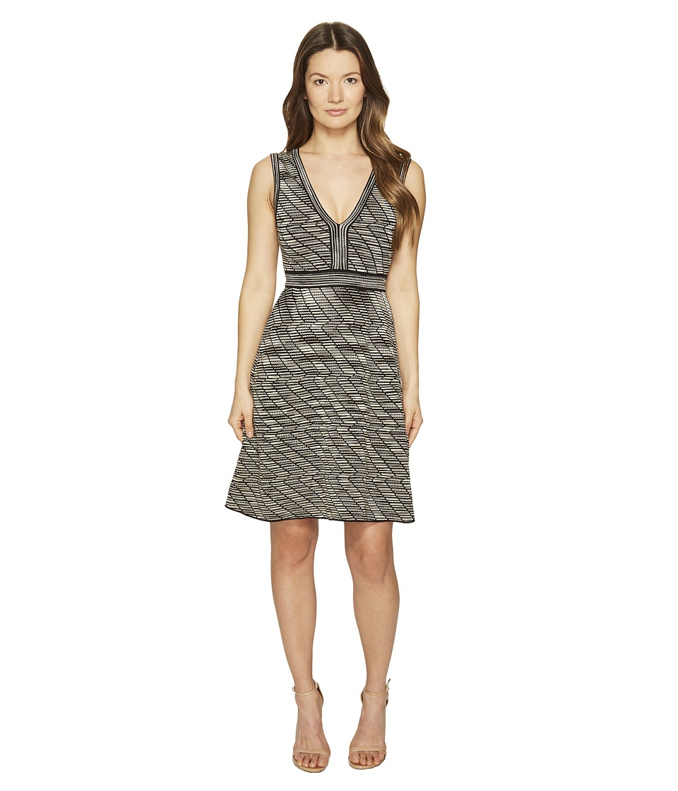 M Missoni Spacedye V-Neck Dress (Black) Women