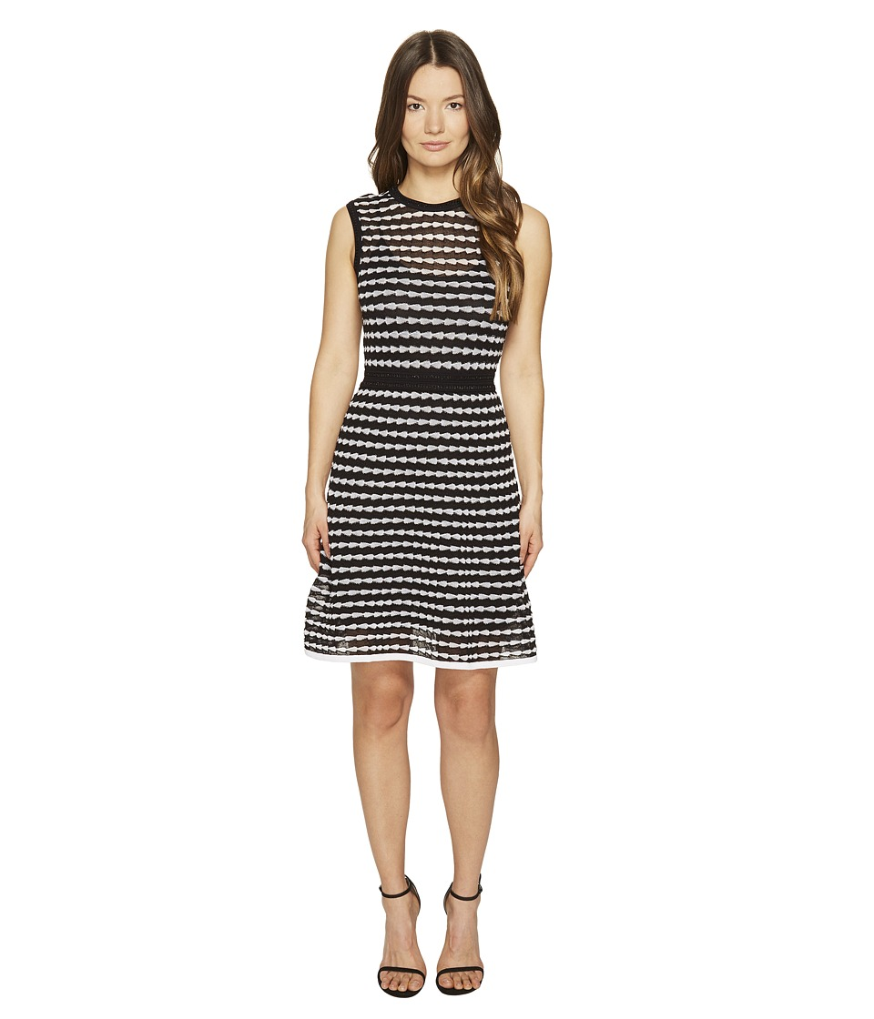 M Missoni Horizontal Triangle Knit Sleeveless Dress (Black) Women