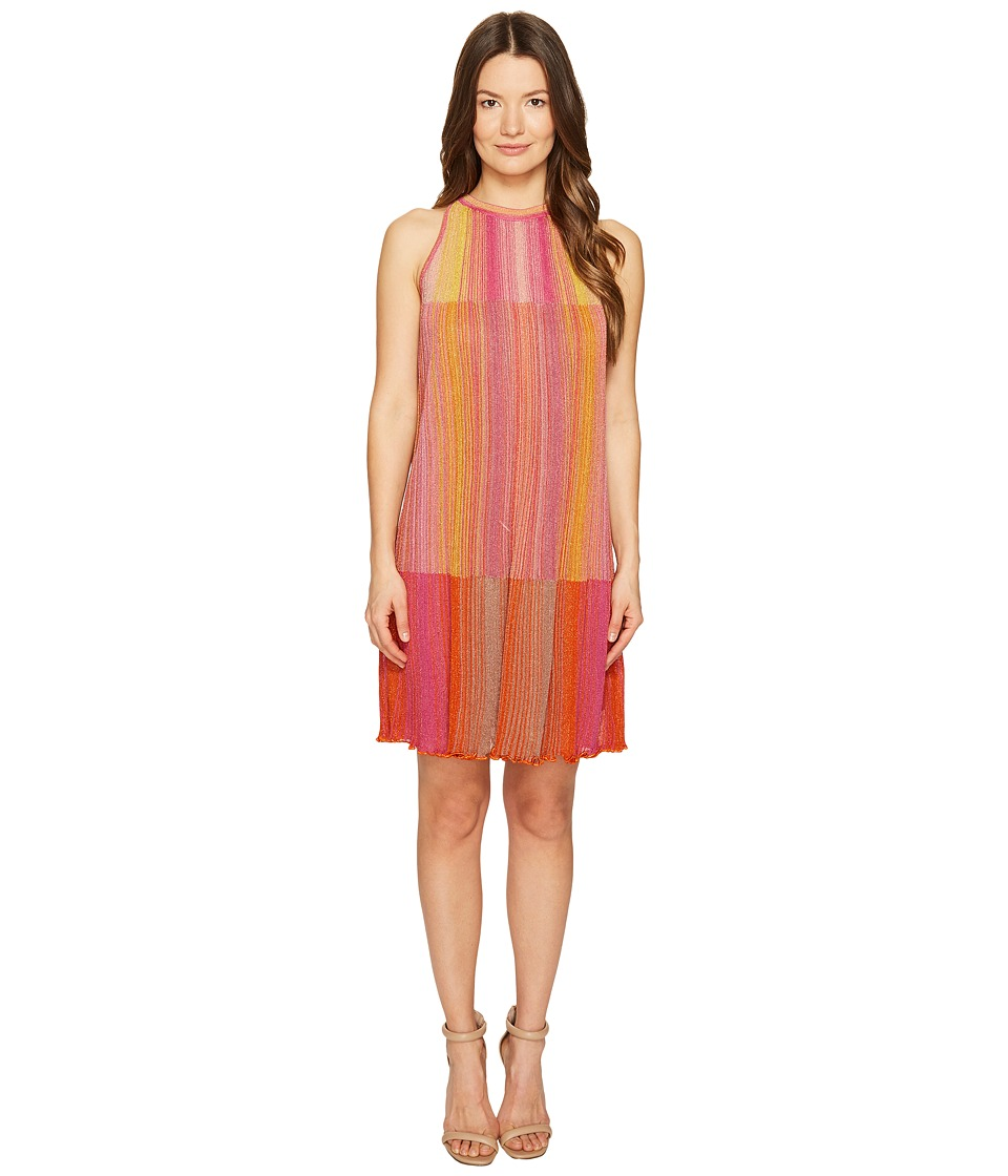 M Missoni Multicolor Plisse Sleeveless Dress (Pink) Women