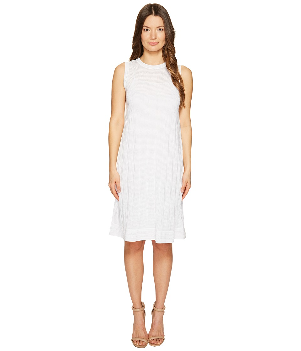 M Missoni Solid Knit Sleeveless Dress (White) Women