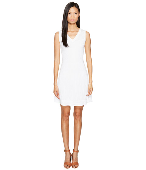M Missoni Solid Knit Sleeveless V-Neck Dress