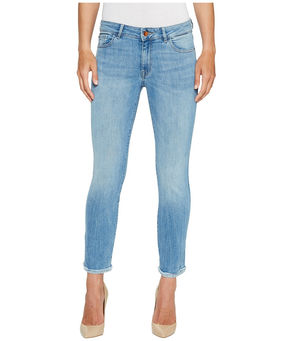 DL1961 Mara Instascultp Straight Leg Ankle Crop Jeans in Fortune (Fortune) Women
